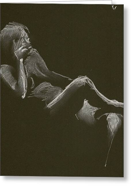 Kroki 2014 12 27_3 Figure Drawing White Chalk Greeting Card