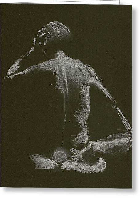 Kroki 2015 01 10_14 Figure Drawing White Chalk Greeting Card