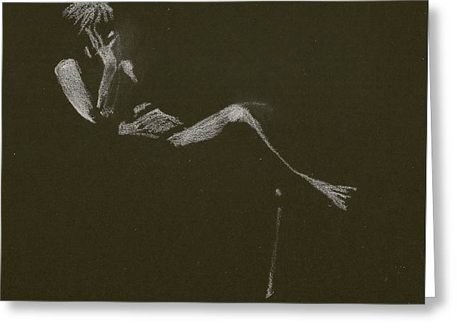 Kroki 2015 01 10_5 Figure Drawing White Chalk Greeting Card