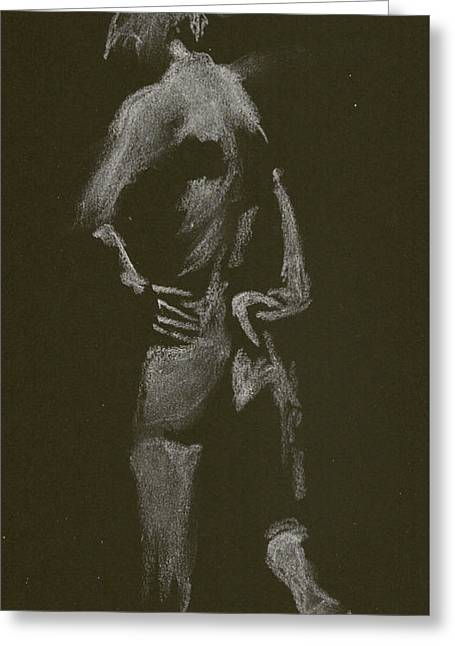 Kroki 2015 01 10_7 Figure Drawing White Chalk Greeting Card