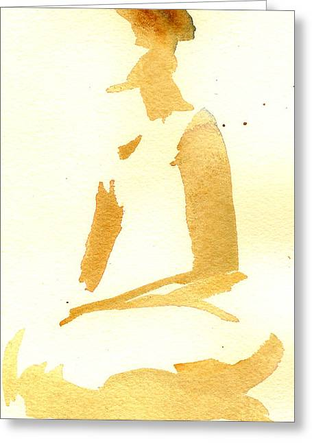Kroki 2015 03 28_29 Maalarhelg 3 Akvarell Watercolor Figure Drawing Greeting Card