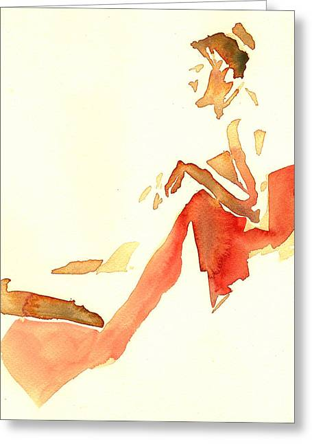 Kroki 2015 03 28_29 Maalarhelg 4 Akvarell Watercolor Figure Drawing Greeting Card
