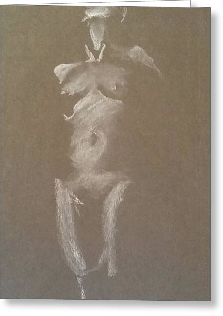 Kroki 2015 06 18_6 Figure Drawing White Chalk Greeting Card