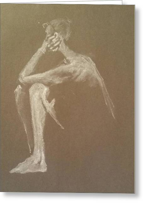 Kroki 2015 06 18_9 Figure Drawing White Chalk Greeting Card