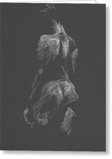 Kroki 2015 09 26 _3 Figure Drawing White Chalk Greeting Card