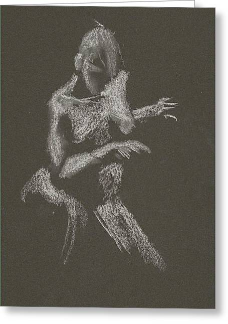 Kroki 2015 10 03_12 Figure Drawing White Chalk Greeting Card
