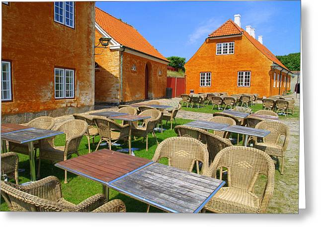 Greeting Card featuring the photograph Kronborg Castle Cafe by Michael Canning