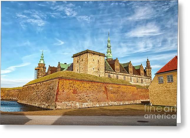 Greeting Card featuring the photograph Kronborgsslott In Helsingor by Antony McAulay