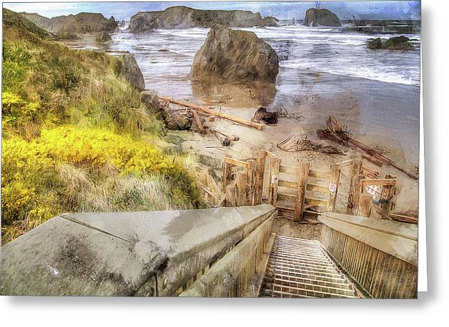Kronenberg County Park Stairwell Two Greeting Card by Thom Zehrfeld