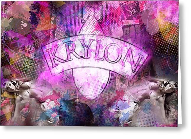 Krylon Girls  Greeting Card
