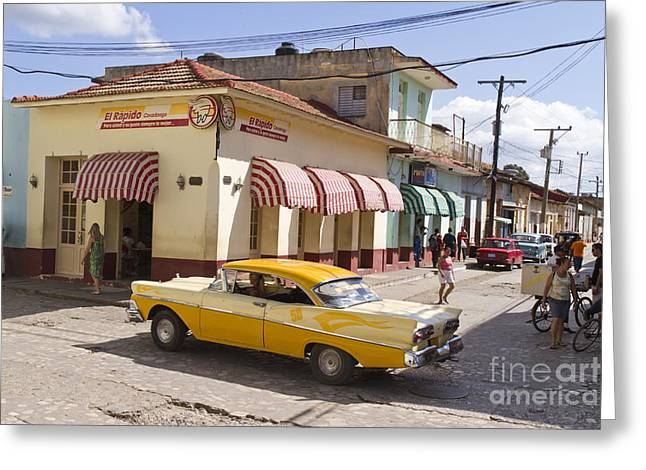 Kuba Trinidad Greeting Card by Juergen Held