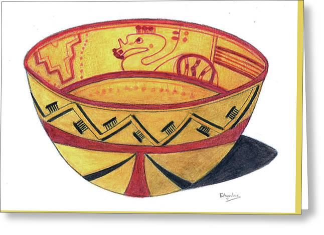 Kukulcan Sacred Vase Greeting Card