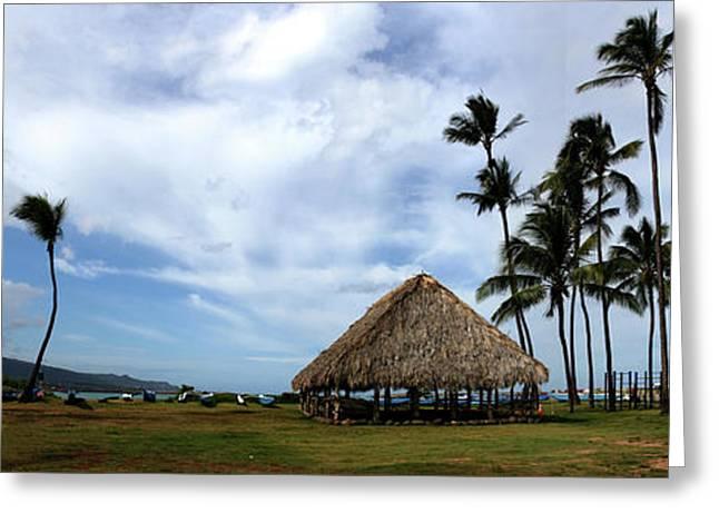 Kukulu Hale Kahului Maui Hawaii Panorama Greeting Card by Sharon Mau