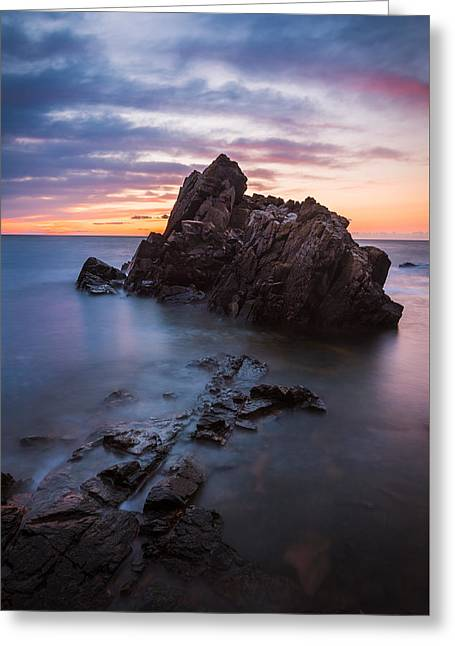 Kattegat Greeting Cards - Kullaberg Sunset Greeting Card by Arvid Bjorkqvist