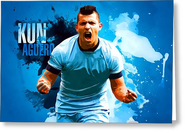 Kun Aguero Greeting Card