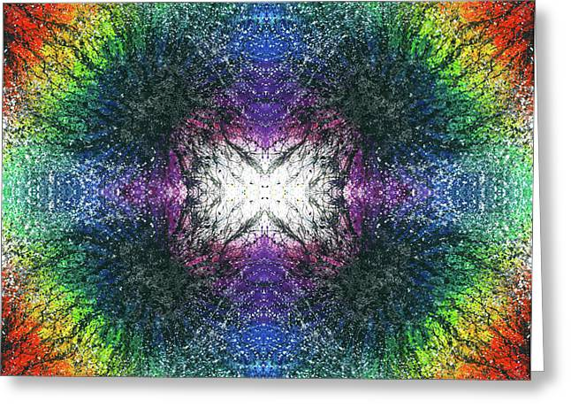 Kundalini Awakening #1551 Greeting Card by Rainbow Artist Orlando L aka Kevin Orlando Lau