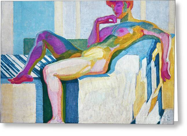 The Colored Woman Greeting Cards - Kupka Planes Nude Greeting Card by Granger