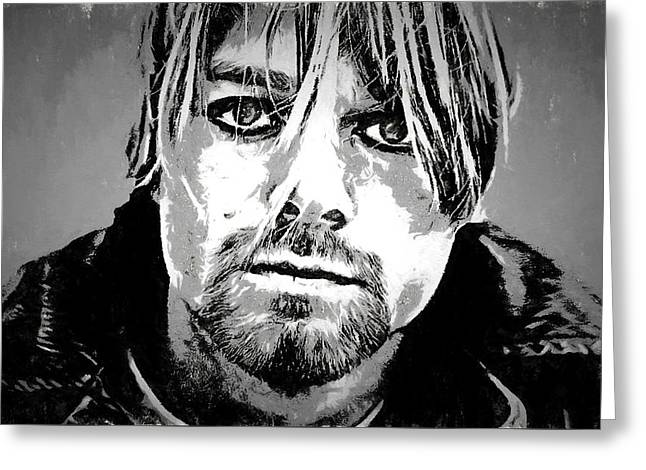 Kurt Cobain Charcoal Greeting Card