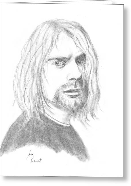 Kurt Cobain Greeting Card by Josh Bennett