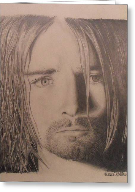Kurt Cobain Greeting Card by Melissa Dzierlatka