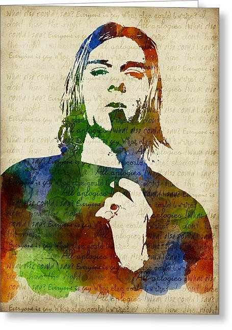 Kurt Cobain Watercolor Greeting Card
