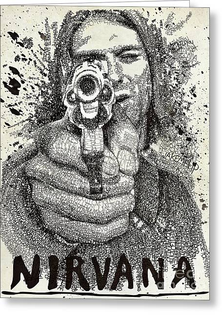 Kurt Poster Greeting Card by Michael Volpicelli