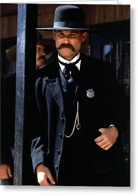 Kurt Russell As Wyatt Earp Tombstone Arizona 1993-2015 Greeting Card by David Lee Guss
