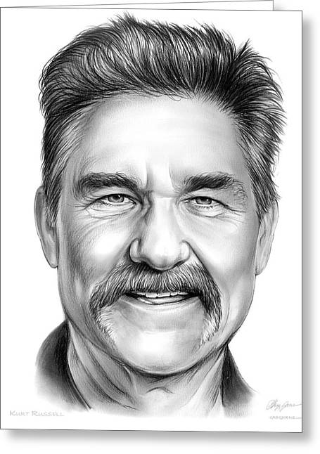 Kurt Russell Greeting Card by Greg Joens