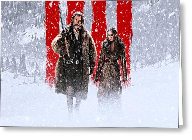 Kurt Russell Jennifer Jason Leigh The Hateful Eight Greeting Card by Movie Poster Prints