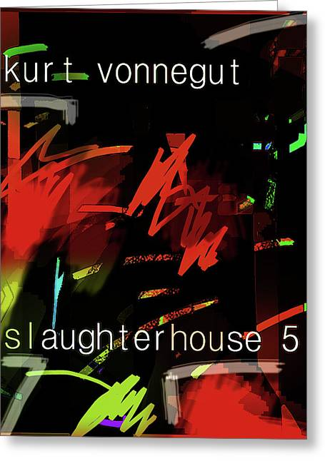 Kurt Vonnegut Poster  Greeting Card