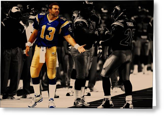 Kurt Warner Giving Dap Greeting Card