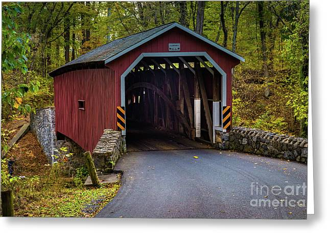 Kurtz Mill Covered Bridge Greeting Card