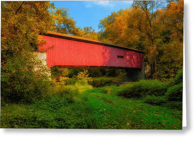 Kurtz Mill Covered Bridge - Pennsylvania - 1876 Greeting Card