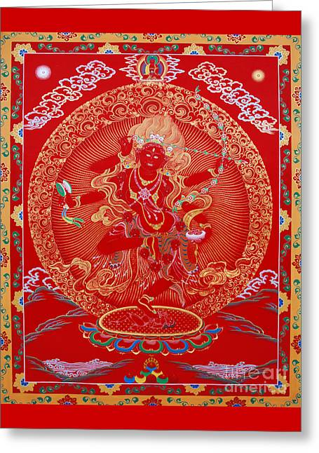 Kurukulle Devi Greeting Card by Sergey Noskov