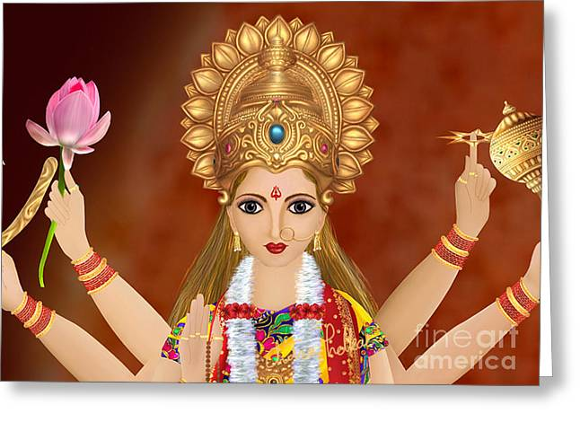 Kushmanda Greeting Card by Chitra Helkar