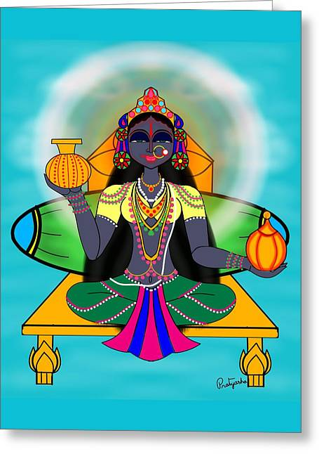 Kushmanda Greeting Card by Pratyasha Nithin
