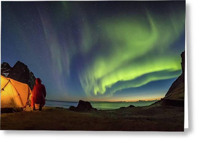 Kvalvika Under The Lights Greeting Card