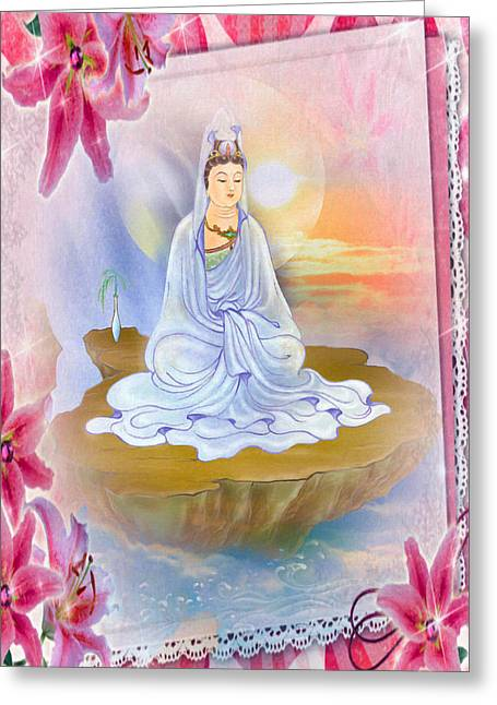 Kwan Yin - Goddess Of Compassion 1 Greeting Card by Lanjee Chee