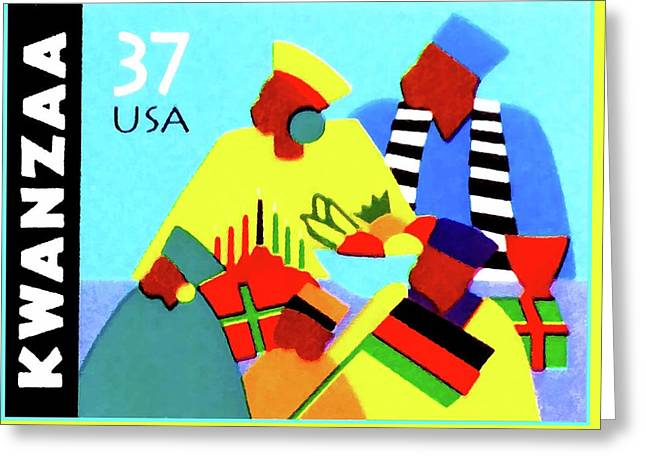 Kwanzaa Holiday  Greeting Card by Lanjee Chee