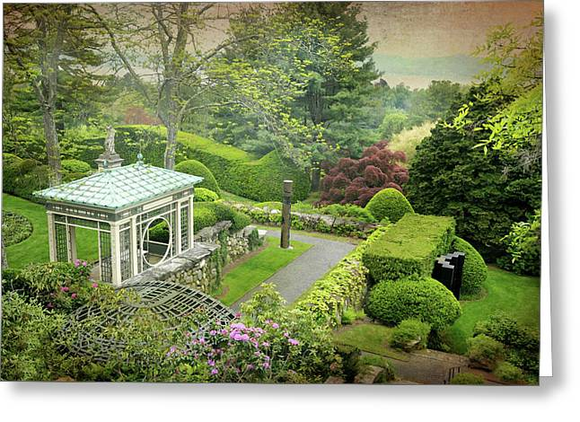 Kykuit Garden Greeting Card by Diana Angstadt