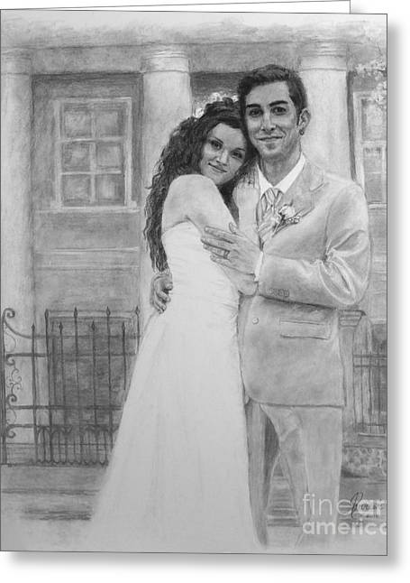 Kyle And Liliia Wedding Day Portrait Greeting Card