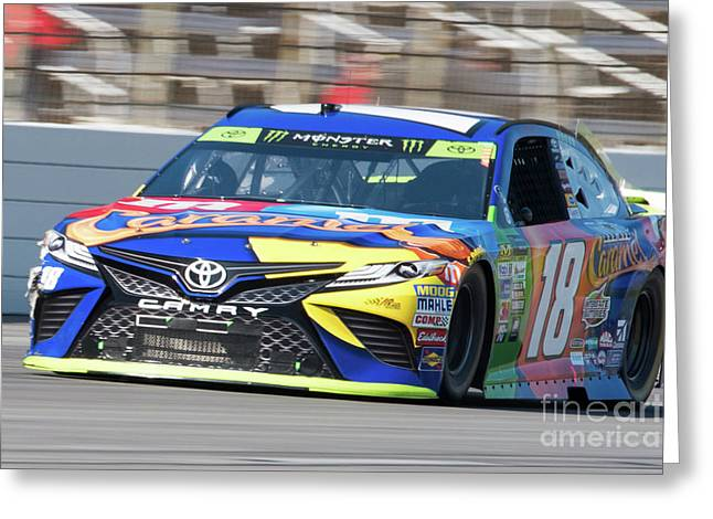 Kyle Busch Coming Out Of Turn 1 Greeting Card