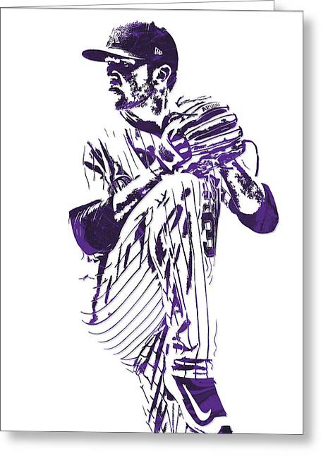 Kyle Freeland Colorado Rockies Pixel Art 1 Greeting Card