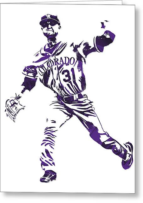 Kyle Freeland Colorado Rockies Pixel Art 2 Greeting Card