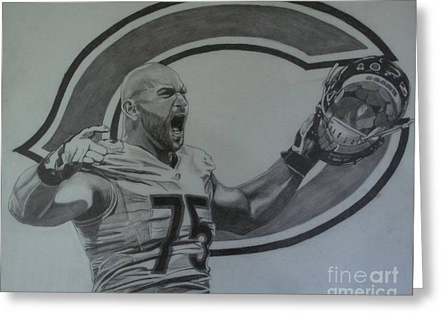 Kyle Long Of The Chicago Bears Greeting Card