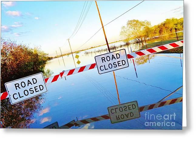 Kyle Texas Flooding October 30 2015 Greeting Card