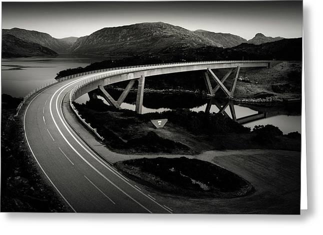 Kylesku Bridge Greeting Card by Dave Bowman