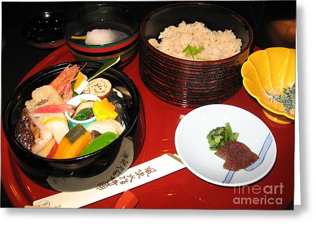 Kyoto Cuisine Greeting Card