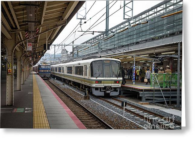 Kyoto To Osaka Train Station, Japan Greeting Card