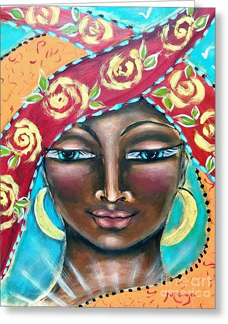 Saint Kyriaki Greeting Card by Maya Telford